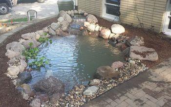 crown point pond renovation, landscape, ponds water features