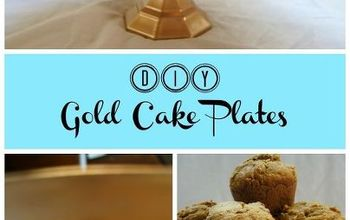 DIY Gold Cake Stand