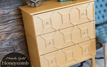 Metallic Gold Honeycomb Dresser (an IKEA Tarva Hack)