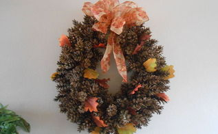 diy pine cone wreath using chicken wire, crafts, wreaths