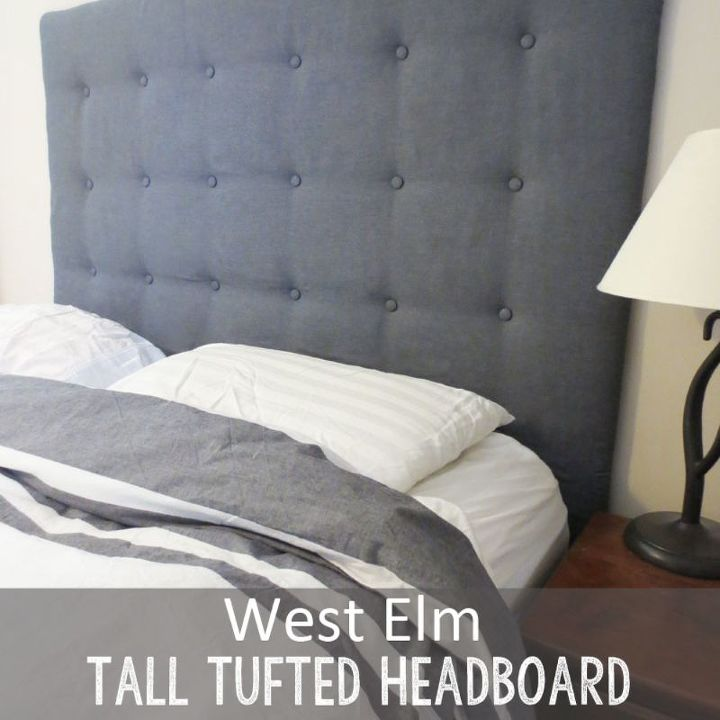 Est Elm Tall Tufted Headboard How To For Less Bedroom Ideas Diy Repurposing