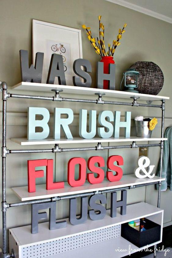 easy and colorful bathroom updates, bathroom ideas, home decor, wall decor