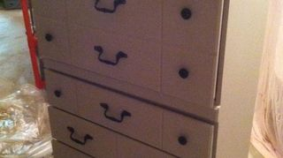 Furniture To The Dresser I Painted Covered First With Zinsser Primer And Then Latex