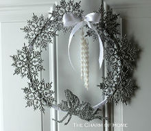 a winter wreath, crafts, seasonal holiday decor, wreaths
