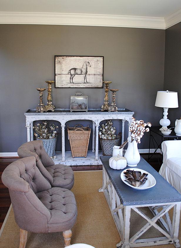 fall tour of our home, home decor, living room ideas, seasonal holiday decor