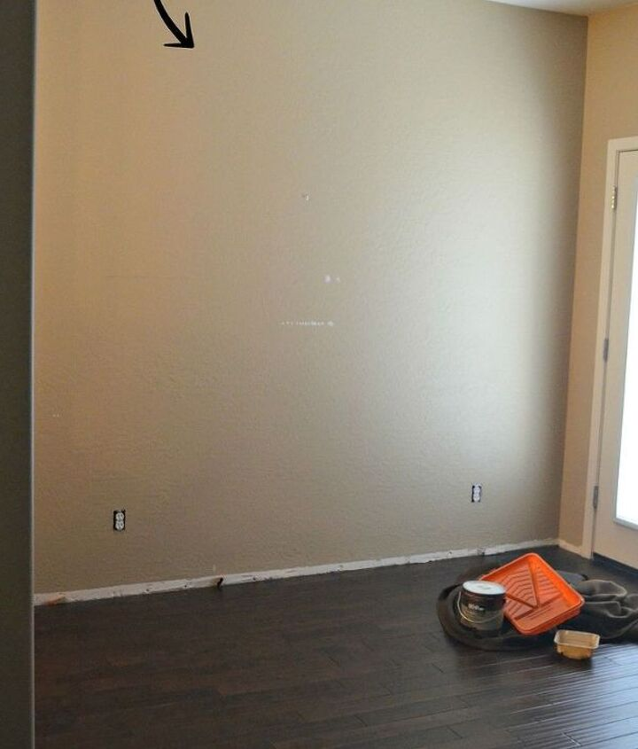 Before Pic: Boring Beige Wall