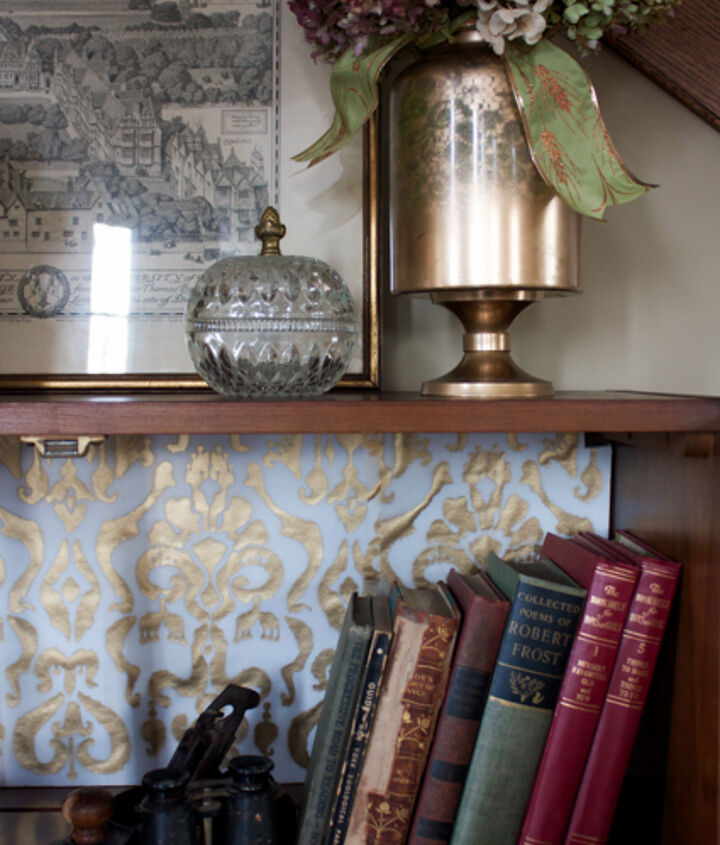 how to update a book shelf without using paint, how to, painted furniture, shelving ideas