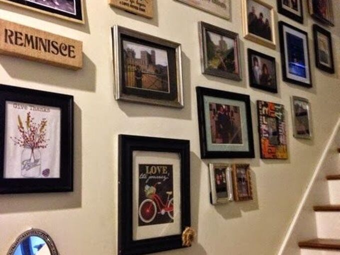 staircase gallery wall how to, home decor, stairs, wall decor, gallery wall