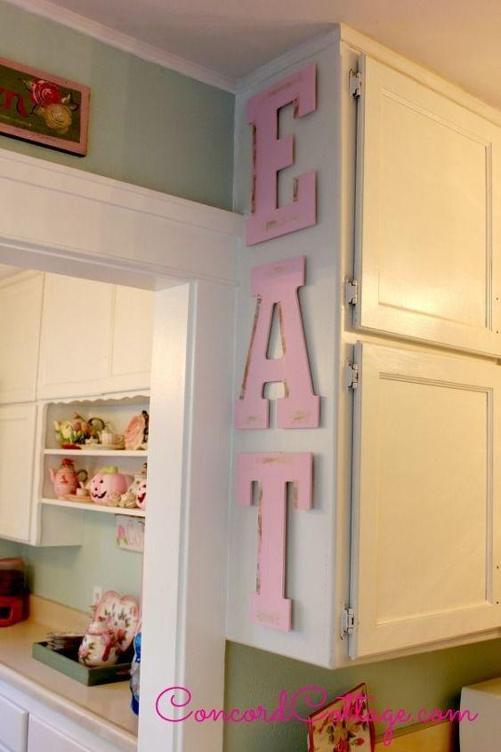 Eat Letters Decor Design For Kitchen Hometalk