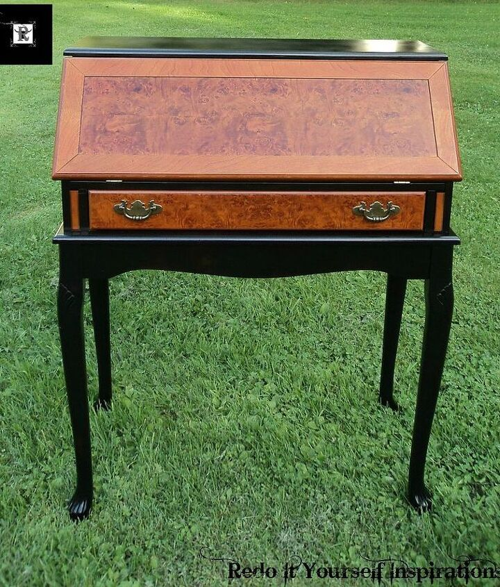 secretary desk makeover, diy, painted furniture, woodworking projects