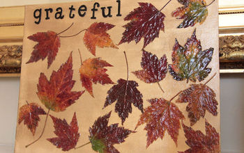 Thanksgiving Leaves Canvas