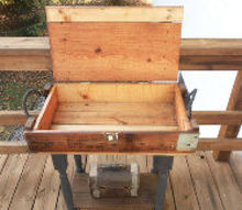 how to make ammo box table, diy, home decor