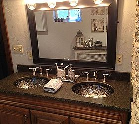 Contemporary Bathroom With Vangura Granite, Bathroom Ideas, Countertops, Small  Bathroom Ideas