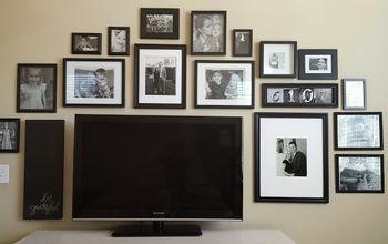black and white tv gallery wall idea decor, bedroom ideas, home decor, wall decor