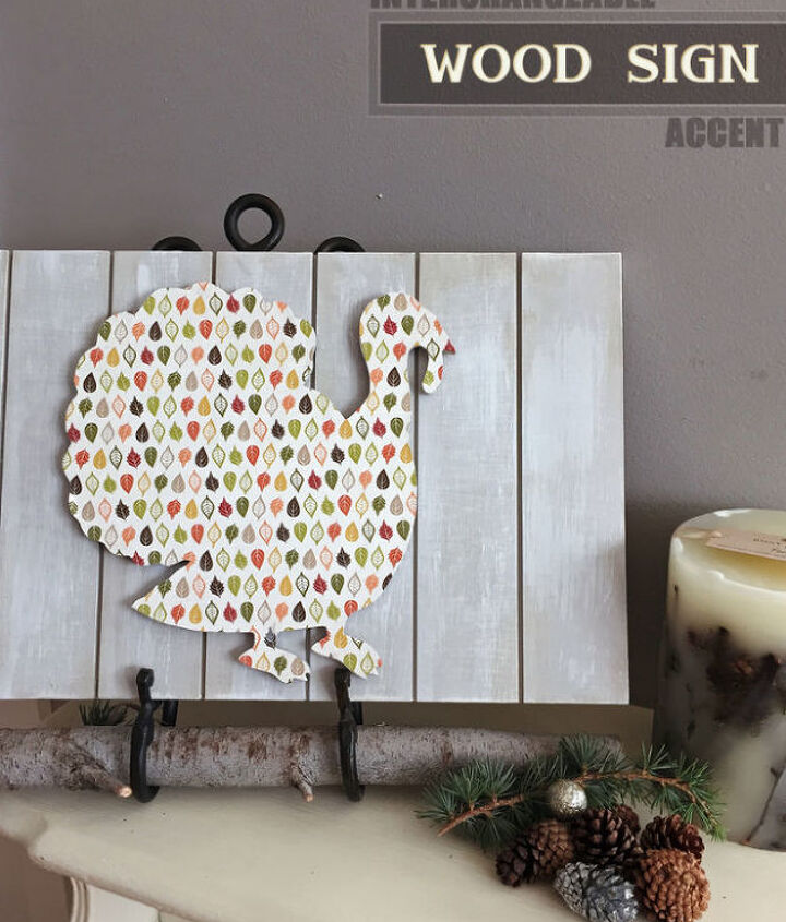 thanksgiving interchangeable wood sign how to, chalk paint, crafts, seasonal holiday decor, thanksgiving decorations