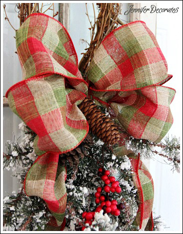 how to make a christmas bow decor craft christmas decorations how to seasonal