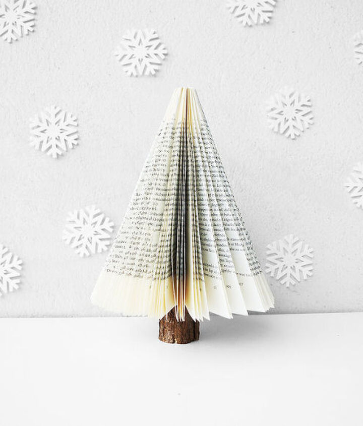 how to make a book tree christmas decor, christmas decorations, crafts, how to, seasonal holiday decor