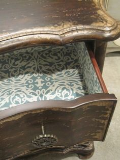 Q Lining Furniture Drawers With Pretty Paper Crafts Decoupage