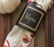 how to make holiday place card napkin wraps, crafts, how to, seasonal holiday decor, thanksgiving decorations