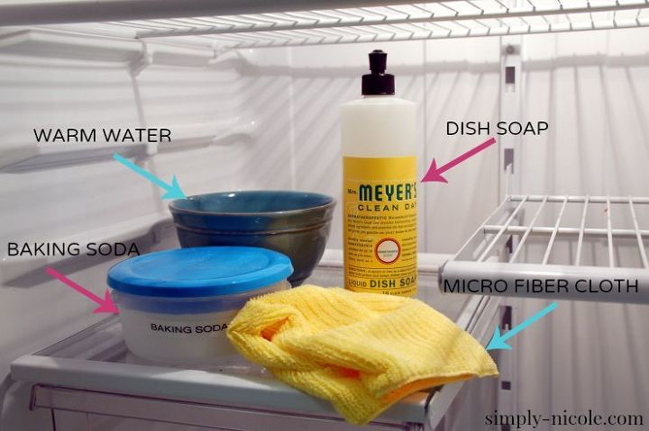 how to organize the fridge and clean it, appliances, cleaning tips, organizing