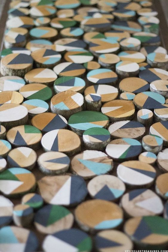 how to make custom wall art with wood slices, crafts, wall decor, woodworking projects