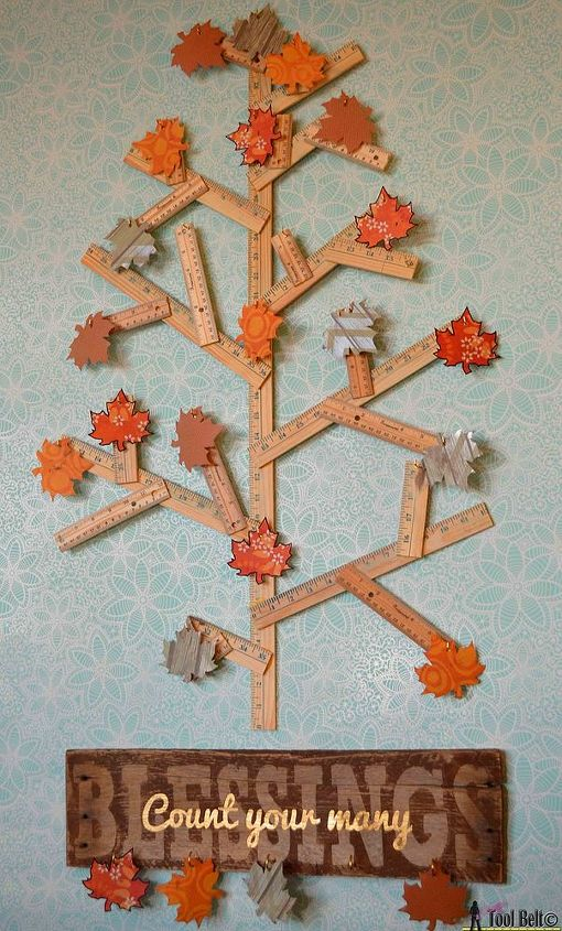 how to make a thankful tree project for thanksgiving, crafts, repurposing upcycling, seasonal holiday decor, thanksgiving decorations