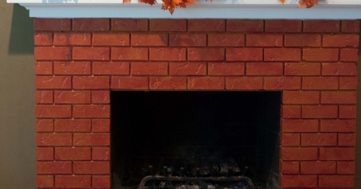 Brick fireplace makeover with paint hometalk - How to make a brick fireplace look modern ...