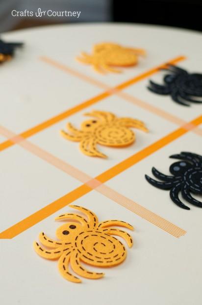 how to diy washi tape halloween tic tac toe
