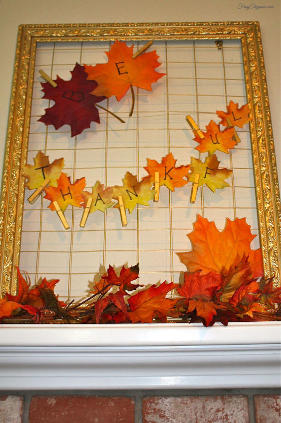 easy thanksgiving home decor with frames