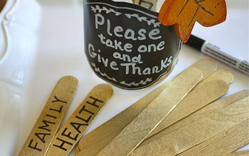 "Super Easy ""Give Thanks"" Home Decor Projects"