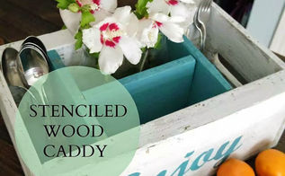 upcycled wood crate caddy project, painting, pallet, repurposing upcycling