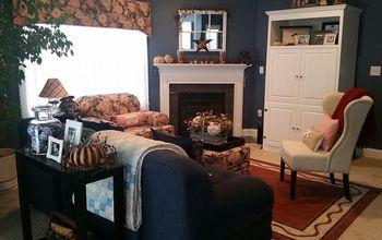 new family room makeover idea, home decor, window treatments