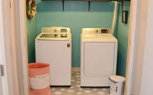 laundry room makeover adding light bright colors, laundry rooms