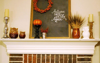 easy and simple fall decor home tour chalk paint leaves, halloween decorations, seasonal holiday decor, thanksgiving decorations