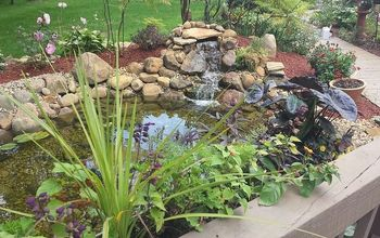 crown point pond outdoor decor ideas, ponds water features, After