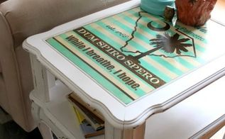 end table makeover with south carolina design, painted furniture