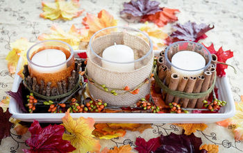 Easy Fall Candle Centerpiece