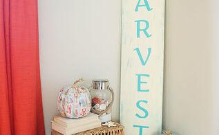 how to make harvest coastal decor sign, crafts, seasonal holiday decor
