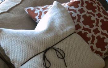 how to make an envelope pillow cover, home decor, repurposing upcycling, reupholster