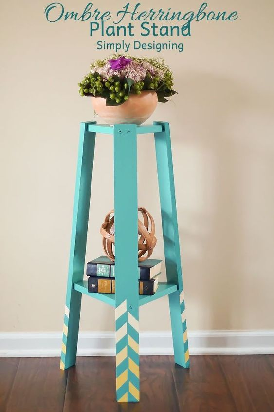 turn a 5 plant stand into something modern and gorgeous, home decor, painted furniture