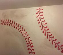 bahow to paint baseball for boys room, bedroom ideas, painting, wall decor, Baseball accent wall