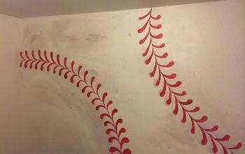 bahow to paint baseball for boys room, bedroom ideas, painting, wall decor, Baseball accent wall