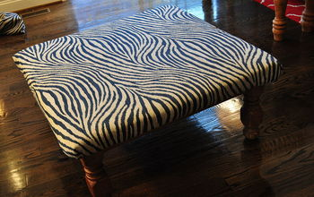 Turning An Old Table Into An Ottoman