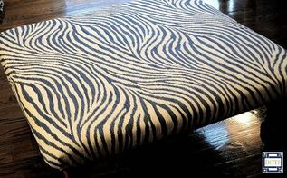 turning an old table into an ottoman, diy, how to, repurposing upcycling, reupholster