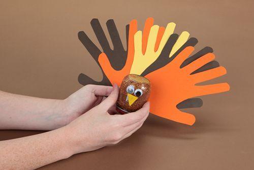 cute turkey thanksgiving glitter globes, crafts, seasonal holiday decor, thanksgiving decorations