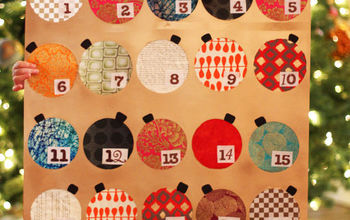 how to make your own advent calendar using spray paint, christmas decorations, crafts, seasonal holiday decor
