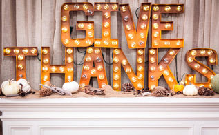 diy marquee sign for thanksgiving, crafts, seasonal holiday decor, thanksgiving decorations