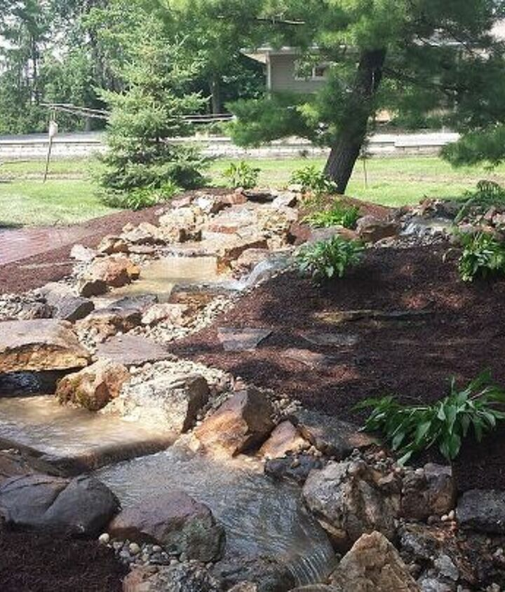 crown point pondless waterfall, landscape, ponds water features