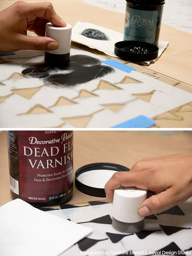 ikea vittsjo table hack with stenciling, diy, home decor, painted furniture, painting
