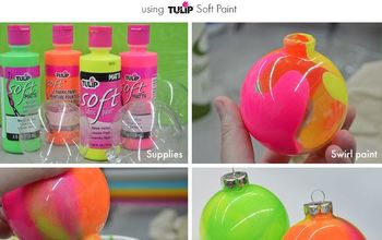 Neon Marble Ornament Tutorial